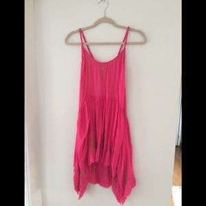 Free People hot pink/gold dress